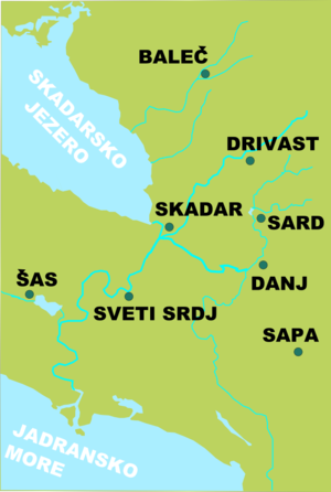 Dagnum - Dagnum (Danj) and nearby towns