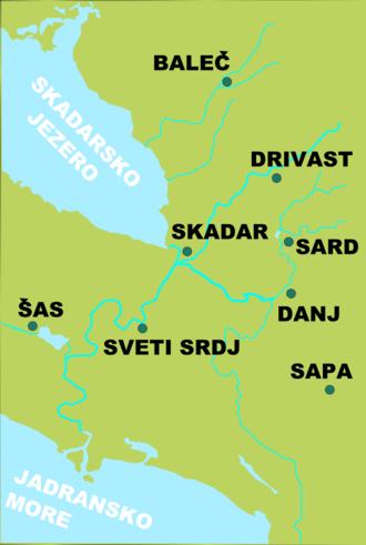 Dagnum - Dagnum (Danj) and nearby towns