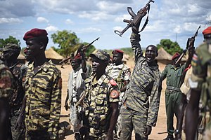 2016–17 Wau clashes - Sudan People's Liberation Army soldiers in 2016.