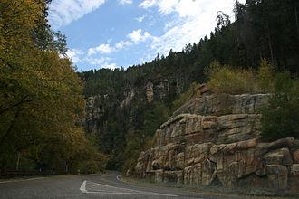 Arizona State Route 89A - SR 89A descending Oak Creek Canyon