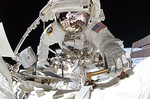Gregory Chamitoff - Chamitoff during the final spacewalk of the STS-134 mission.