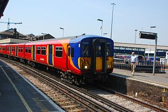British Rail Class 455 - South West Trains refurbished Class 455/7 at Clapham Junction