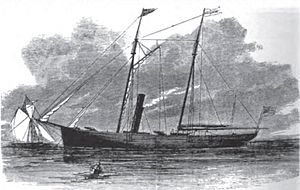Clara Clarita -  Steam yacht Clara Clarita in 1864, as originally designed