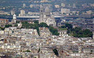 Stade de France - Stade de France visible from central Paris behind the Sacré-Cœur