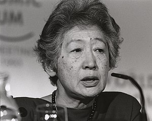 Sadako Ogata - Sadako Ogata at the World Economic Forum in 1993