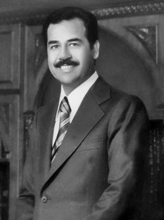Saddam Hussein - Official portrait of Saddam Hussein in 1980