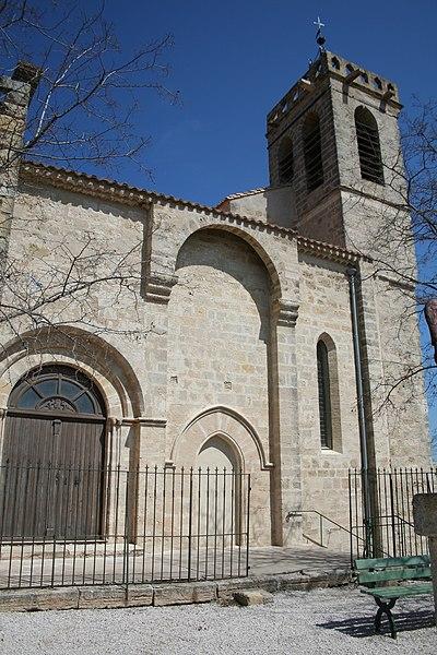 Saint-Pons-de-Mauchiens (Hérault) - église Saint-Pons-de-Cimiez (XIIe siècle).