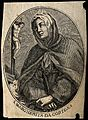 Saint Margaret of Cortona. Line engraving. Wellcome V0032588.jpg