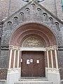 Saint Petrus Canisius church. Portal. - Budapest.JPG