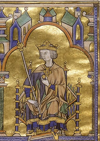 Louis IX of France - Contemporary depiction from about 1230