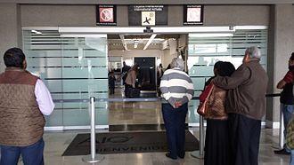 Querétaro Intercontinental Airport - International arrivals area.