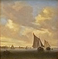 Salomon van Ruysdael - Seascape with sailing boat to the right.JPG