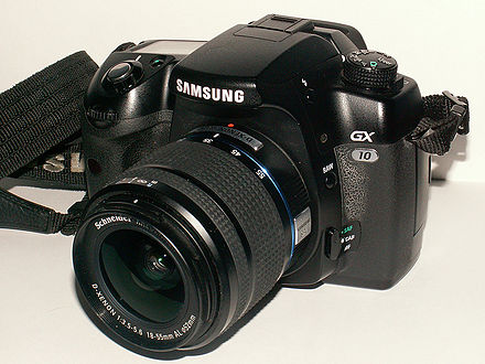 The Samsung GX-10 digital SLR camera Samsung GX-10.jpg