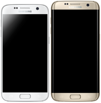 Samsung Galaxy S7 - Samsung Galaxy S7 (left) and S7 Edge (right)