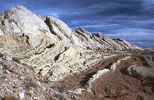 Navajo Sandstone - A prominent cuesta of Navajo Sandstone rims the edge of the San Rafael Swell in eastern Utah.
