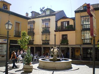 San Lorenzo de El Escorial - Plaza de la Cruz, one of the corners of the historical center