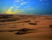 Sand dunes of Maranjab Desert in Kavir National Park