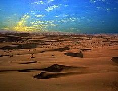 Sand dunes of Maranjab Desert in Kavir National Park