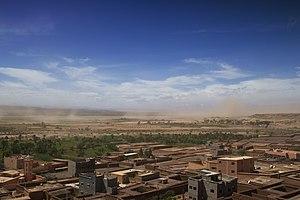 Zagora, Morocco - Image: Sand storm over the Vallée du Draa (2357098587)