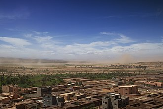 Zagora, Morocco - Image: Sand storm over the Vallée du Draa (2357098587)