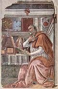 Saint Augustin dans son cabinet de travail (Botticelli, Ognissanti) (vers 1480).