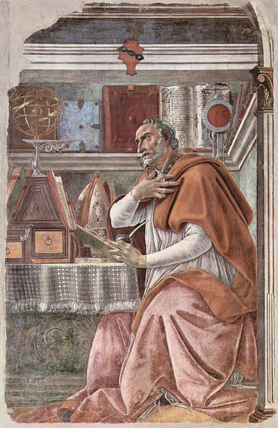 Many Western churchmen, including Augustine of Hippo, have been influenced by Platonism. Sandro Botticelli 050.jpg