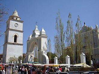 Arani Municipality - Image: Santuario de la Virgen La Bella 2