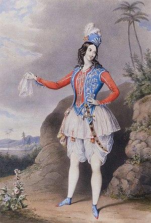 Sarah Fairbrother - Image: Sarah Louisa Fairbrother as Abdullah 1848