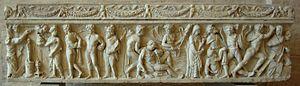 Sarcophagus Orestes Iphigeneia Glyptothek Munich 363 front.jpg