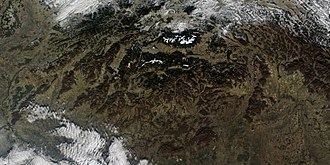 Outline of Slovakia - An enlargeable satellite image of Slovakia