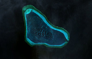 Scarborough Shoal atoll and reef in the South China Sea