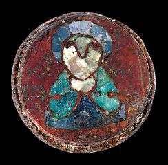 Maschen disc brooch