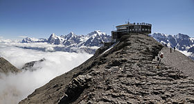 Schilthorn with Bernese Alps, 2012 August.jpg