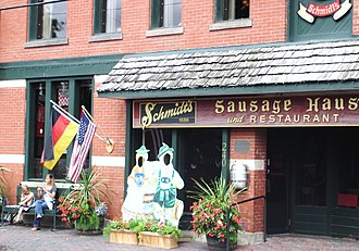 Cuisine of the Midwestern United States - Schmidt's Sausage Haus in German Village, Columbus, Ohio
