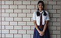 School girl in her uniform, Sainikpuri, India.jpg