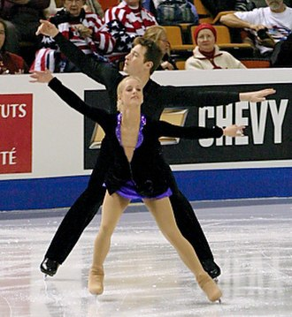 Tiffany Scott - Scott competes with former partner Philip Dulebohn in 2004.