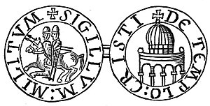 Dome of the Rock - Depiction of the Templum Domini on the reverse side of the seal of the Knights Templar