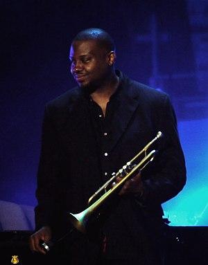 Sean Jones (trumpeter) - Image: Sean Jones at Marcus plus concert