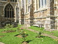 Seat in the churchyard at St Mary, Adderbury - geograph.org.uk - 1460881.jpg