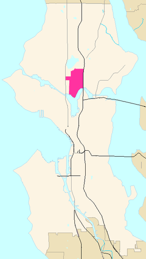 Wallingford, Seattle - Image: Seattle Map Wallingford