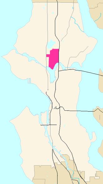 Wallingford, Seattle - Image: Seattle Map Wallingford