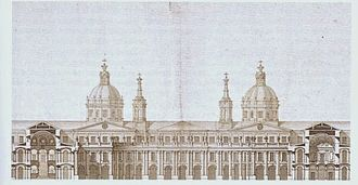 Project of Filippo Juvarra for the Royal Palace of Madrid - Section of the project for the Royal Palace of Madrid by Filippo Juvarra. Archivo General de Palacio, Madrid (c. 1735)