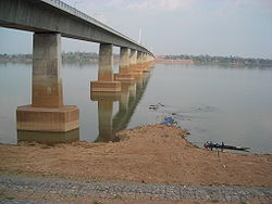 Second Thai–Lao Friendship Bridge, seen from Mukdahan