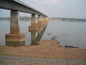 Mukdahan Province - Second Thai–Lao Friendship Bridge, seen from Mukdahan