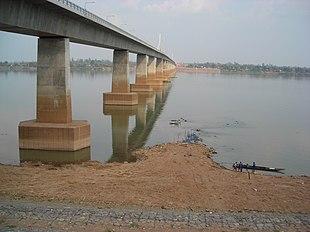 Second Thai–Lao Friendship Bridge, seen from Mukdahan