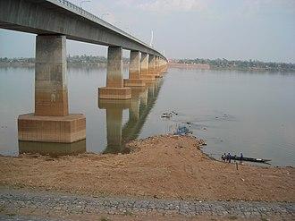Second Thai–Lao Friendship Bridge - Second Thai–Lao Friendship Bridge, seen from Mukdahan