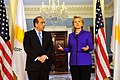 Secretary Clinton With Foreign Minister Markos Kyprianou of Cyprus (4472660925).jpg