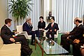 Secretary Kerry Listens to Chinese Vice Premier Zhang During a Bilateral Meeting Before He Addressed Delegates and Signed the COP21 Climate Change Agreement on Earth Day in New York (25977451953).jpg