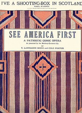 See America First - Sheet music cover