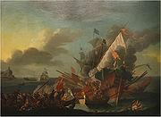 Seeschlacht von Lepanto von Pieter Brünniche